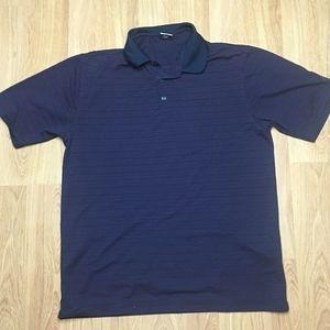 NIKE Golf Dri-Fit UV Shirt Dark Blue & Red Large